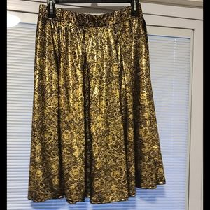 Lularoe Elegant Madison Medium Gold foil